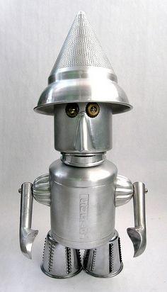 Baker - Found Object Robot Assemblage Sculpture   Flickr - Photo Sharing!
