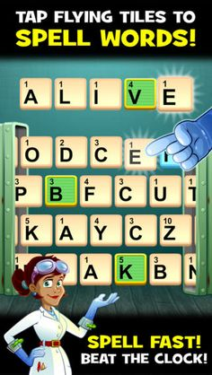Word Science ($0.99) In this fast-paced spelling game, your words power Dr. Von Vocab's crazy lab! Grab letters as they whiz by on conveyor belts and form words as fast as you can to keep Dr. Von Vocab's experiments going… or else. Are you ready for Word Science, a new word game that only science could create? Well rated.