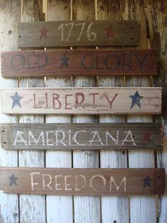 Primitive Americana Signs