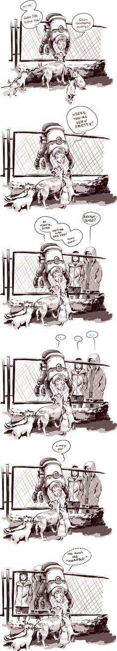 Kakashi and dogs