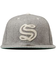 Heather Grey Melton Old S New Era Cap Fitted Baseball Caps 31255dd9f54a