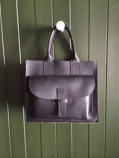 Agnes Baddoo Small Black Leather Tote