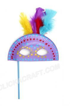 Paper Plate Masquerade Mask Craft                                                                                                                                                      More