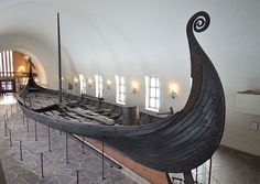 The Oseberg Ship. The Viking Ship Museum, Oslo