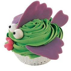 With Baited Breath Cupcakes - Anglers of all ages will reel in these fish cupcakes. Create fins and tails with patterns and Lavender Candy Melts. Add white gumball eyes (dotted with black icing) and heart-candy mouths to fashion the faces.