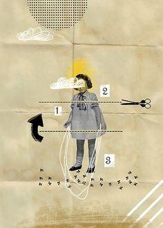 Collage - Girl & Sissors