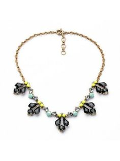 $9.95USD at www.bibjewelry.com   Worldwide Shipping   Statement Necklace   Bib Necklace   Fanny Lime Necklace