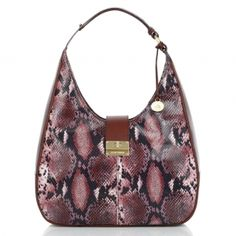 The #brahmin Maggie Hobo, from the St. Bart's Anaconda collection new for #fall2012 #MyBrahminStyle