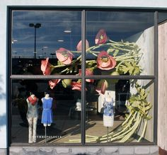 #Dedham #Anthropologie...TOO COOL!  Love that the flowers are coming out the side of the wall!