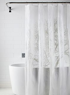 - Fashionable, decorative naturalist print organic pattern that has a very clean look - Opaque and waterproof, ecological EVA, PVC-free - Easy care maintenance with a wet towel - 178 x 183 cm Motifs Organiques, Men Home Decor, Vinyl Shower Curtains, Design Inspiration, Design Ideas, Sweet Home, Natural Design, Remodel Bathroom, Bath Accessories