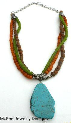 Bohemian necklace. Glass, silver jewelry. Glass beads, silver beads, silver wire multi strand necklace crystal jewelry.  McKee Jewelry Designs andria mckee, mckee jewelry   hand made jewelry, jewellery