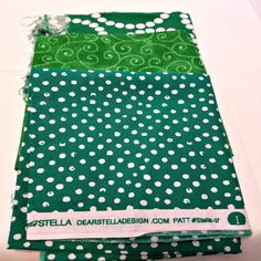 Mixed Green Fabric + Green with White Dots + Green with Swirls + Green with Big White Circles + Dear Stella Design by JessyeBugsBoutique on Etsy
