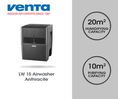 Venta Airwasher LW15 Air Purifier & Humidifier - Anthracite Available online at yourlife.shop #Venta #South_Africa #Airwasher #LW15 #Air_purifier #Humidifier #Anthracite #Love #Followforfollow #Instagood #Clean_air #Allergies #Dust #Quality #Purify #Health #yourlifedotshop #German_made Liquid Paint, Static Electricity, Humidifier, Air Purifier, Allergies, Indoor, South Africa, German, Health