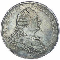 Bayern, Karl Theodor 1777 - 1799  Madonnentaler 1778 Gold am Armabschnitt Stempelschneidersignatur H.ST
