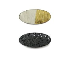 Oval Brooches - 'Silhouette' and 'Surfaces' ©Beth Legg www.bethlegg.com