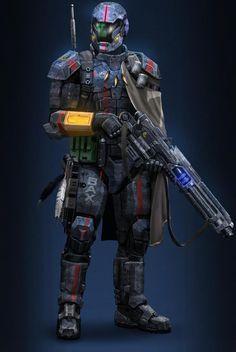 Armor design for Planetside 2 Ltiy by Hokunin Fantasy Armor, Sci Fi Fantasy, Armor Concept, Concept Art, Cyberpunk, Planetside 2, Combat Armor, Military Armor, John Rambo