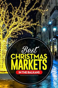 Christmas is a great time to visit Europe. Here are the best Christmas markets in The Balkans, where you find something for everyone. Christmas Markets Europe, Christmas Travel, Holiday Travel, Christmas Store, Christmas Vacation, Christmas Ideas, Xmas, Albania Travel, Croatia Travel