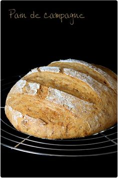 pain-campagne4 Cooking Chef, French Pastries, Bruschetta, Truffles, Favorite Recipes, Pizza, Bread, Cheese, Dinner
