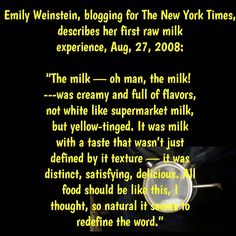 """'Nuff said #legendairy #newyorktimes #milk #rawmilk #behindthecow #drinkmilk #distinct #satisfying #delish #dairygood #dairystrong #dairyfarming…"""