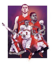 Toronto Raptors by Chris DiBenedetto. www.pencilmouse.ca