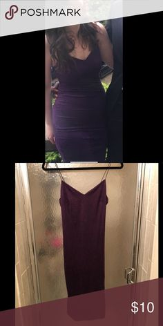 Charlotte Russe Purple Suede Bodycon Dress Super flattering and stretchy suede dress. Size S but easily fit on me (size 8-12 depending on brand). Worn once and in great condition. Great for clubbing or a formal evening. Dress ends a little above my knee. Charlotte Russe Dresses Mini