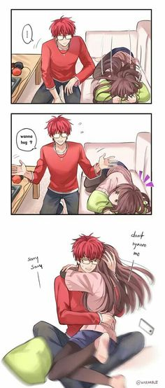 What is this anime and manga I need to know I want to know tell me in the comments Mystic Messenger Characters, Mystic Messenger Fanart, Mystic Messenger Memes, Comics Anime, Bd Comics, Cute Comics, Funny Anime Couples, Anime Couples Manga, Anime Guys