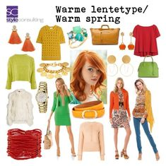 """Warme lentetype/ Warm spring color type."" By Margriet Roorda-Faber, Style Consulting."
