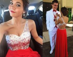 2015 One Shoulder Prom Dresses Cheap Luxury Beaded Sequins Vintage Evening Gowns Special Dance Backless Sleeveless Women Formal Prom Dress Vintage Lace Prom Dresses 50s Prom Dress From Weddingplanning, $106.6| Dhgate.Com