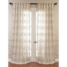 Found it at Joss & Main - Murphy Trellis Sheer Rod Pocket Single Curtain Panel