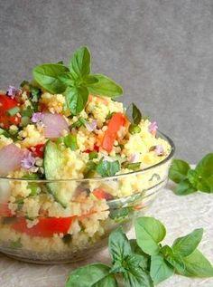 Kuszkuszsaláta Ketogenic Recipes, Diet Recipes, Vegetarian Recipes, Healthy Recipes, Pasta Recipes, Salad Recipes, Mind Diet, Hungarian Recipes, Healthy Salads