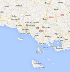 Sentiers Lorient Morbihan 56 Bretagne randonnées pédestres tous les départements régions de France tracé virtuel des chemins parcours circui...
