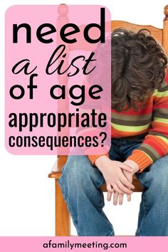 Have a list of age appropriate consequences for kids ready to go for when you need it. These child discipline ideas are good parenting to stop child behavior problems. Child Behavior Problems, Toddler Behavior, Toddler Discipline, Peaceful Parenting, Good Parenting, Parenting Classes, Parenting Plan, Parenting Articles, Parenting Books