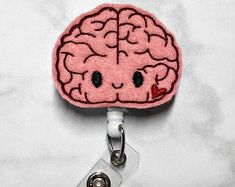 Brain Badge Reel Neurology Badge Reel Brain Badge Clip Neurology Badge Holder, Radiology Badge Reel