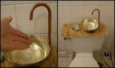 Learn how to make a toilet tank sink!