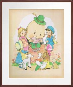 Humpty Dumpty  Vintage Nursery Rhymes Mabel by CloudsandWaters, $13.00