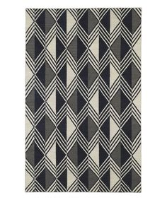 Look at this Black Thunder Wool Rug on #zulily today!
