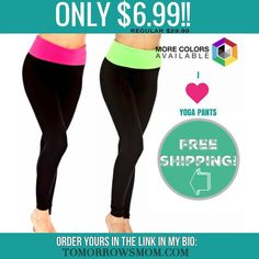I  Yoga Pants!! Great deal to add to your collection maybe switch out the faded ones  $6.99 free shipping click the  link in my bio @tomorrowsmom -read .  See blog post for full details.   follow the link in my Bio a@Tomorrowsmom at TomorrowsMom.com #tomorrowsmom .  #frugal #savings #deals #cosmicmothers #feminineenergy #loa #organic #fitmom #health101 #change #nongmo #organiclife #crunchymama #organicmom #gmofree #organiclifestyle #familysavings #frugal #healthyhabits #lifechanging…
