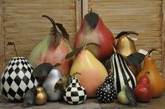 Mackenzie-Childs inspired Pear Gourds