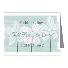 Cool Gardener Floral Mint Note Cards