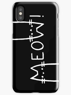 Black and white, meow! by cool-shirts - Also available as T-Shirts & Hoodies, Men's Apparels, Women's Apparels, Stickers, iPhone Cases, Samsung Galaxy Cases, Posters, Home Decors, Tote Bags, Pouches, Prints, Cards, Mini Skirts, Scarves, iPad Cases, Laptop Skins, Drawstring Bags, Laptop Sleeves, and Stationeries #redbubble #iphone #mobile #phone #cases