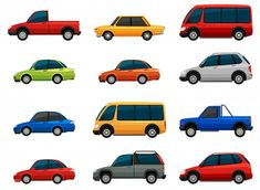 Buy Set of Vehicles by BlueRingMedia on GraphicRiver. Set of vehicles on a white background