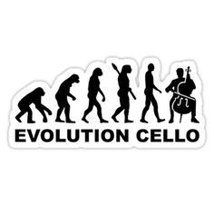 Evolution Cello player Violin Fiddle Contrabass Instrument Music Concert • Also buy this artwork on stickers, apparel, phone cases, and more.