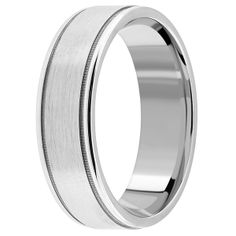 Jewelry Point - Satin/Brushed & Polished Wedding Band Ring 14k Gold, $395.00 (http://www.jewelrypoint.com/satin-brushed-polished-wedding-band-ring-14k-gold/)