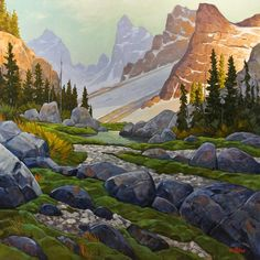First Rays Through the Pass, by Graeme Shaw