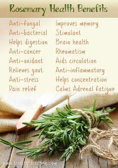 Rosemary's amazing health benefits | Trinity's Conscious Kitchen #rosemary #healthbenefits