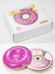 The Simpsons Movie Soundtrack Cartoon Collector Limited Edition Donut Cd - Cd Design, Album Cover Design, Branding Design, Design Packaging, Graphic Design, The Simpsons Movie, Simpsons Donut, Pochette Cd, Cd Cases