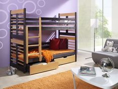 Pat etajat din lemn masiv Aron #homedecor #inspiration #designinterior Childrens Bunk Beds, Beds For Sale, Double Beds, King Beds, Storage Drawers, Kids Furniture, Mattress, Interior Design, Cheap Beds