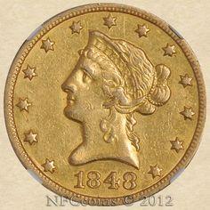1848-O Ten Dollar Gold Liberty AU53 NGC, obverse