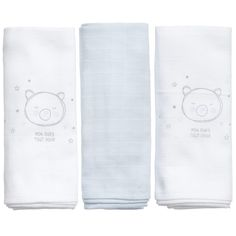 Absorba Baby Boys White & Blue Muslins (Pack of Baby Wearing, Baby Boys, Clothing, Blue, Outfits, Babywearing, Little Boys, Boy Babies, Dresses