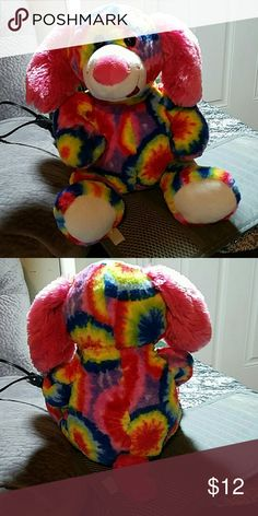"""FIESTA TIE DYE PLUSH DOG 12"""" GRATEFUL DEAD This listing is for a cute puppy dog plush! He was made by Fiesta and measures at 12 inches tall from toes to head. Fiesta  Other"""